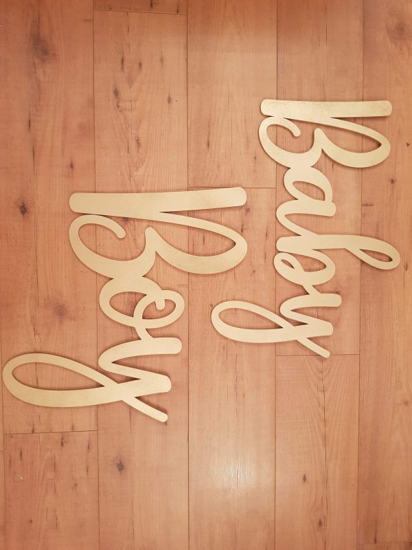 baby boy flower wall sign
